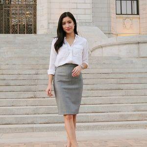 New York & Company Pencil Skirt Grey 6